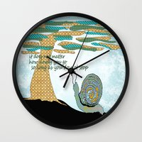 lee pace Wall Clocks featuring Set Your Pace by SueOdesigns