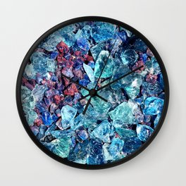 Colored Glass Stones Wall Clock
