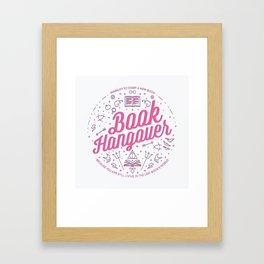 Book Hangover (Pink) Framed Art Print