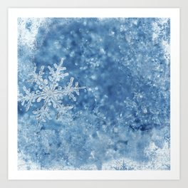 Winter wonderland Snowflakes Kunstdrucke