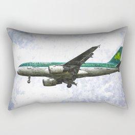 Aer Lingus Airbus A319 Art Rectangular Pillow