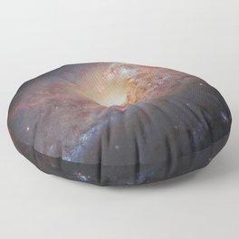 Spiral Galaxy M 106 Floor Pillow