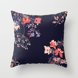 Colorful Night Roses Throw Pillow