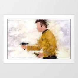 The Captain ( Splatter ) Art Print