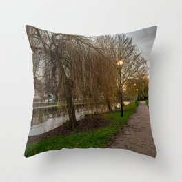River Wensum in the city of Norwich Throw Pillow