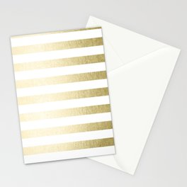 Simply Striped Gilded Palace Gold Stationery Cards