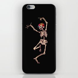 CALAVERA SUGAR SKULL SKELETON DANCING iPhone Skin