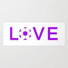 Soccer Love Art Print