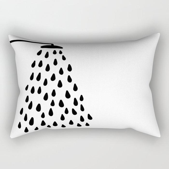 Shower in bathroom Rectangular Pillow