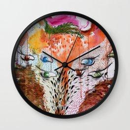 Summer Wolf Wall Clock