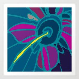 Spring collection - blue - flower Art Print