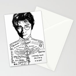 HP Mischief Managed Tat Sketch Stationery Cards