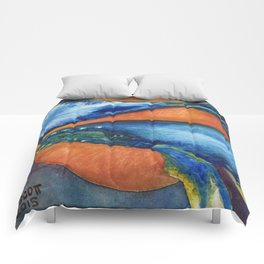 Humpbacks Orbiting Mars Comforters