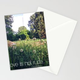 Love is not rude Stationery Cards