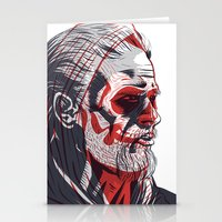 sons of anarchy Stationery Cards featuring Duality - Sons of Anarchy by Steve Treadwell