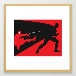 Marvel Vs DC Framed Art Print