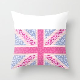 English Rose Throw Pillow