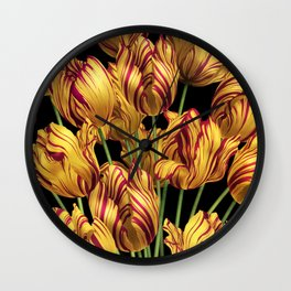 Royal Sovereign Tulips bouquet. Wall Clock