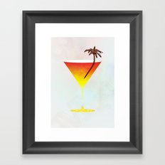 Rum Cocktail Framed Art Print