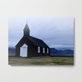 Black Church Metal Print