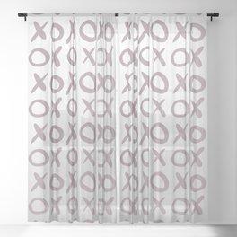 XOX Silver Sheer Curtain