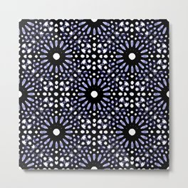 Moroccan Inspired Mandala I - Abstract Impressionism Metal Print