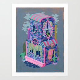 Diamond House Art Print