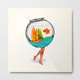 Fishbowl Pin-Up Metal Print
