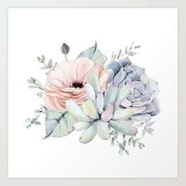 Pretty Succulents by Nature Magick Art Print