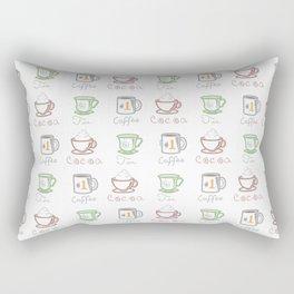 Hot Drinks (Color) Rectangular Pillow