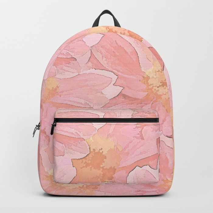 Pretty In Pink Painterly Floral Backpack