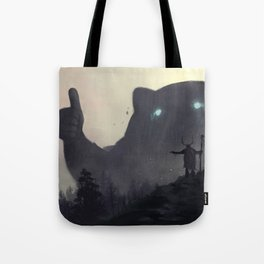 yo bro is it safe down there in the woods? yeah man it's cool Tote Bag