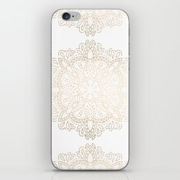 Mandala White Gold Shimmer by Nature Magick iPhone Skin
