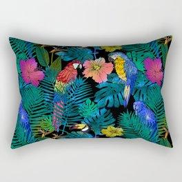 Tropical Birds and Botanicals Rectangular Pillow