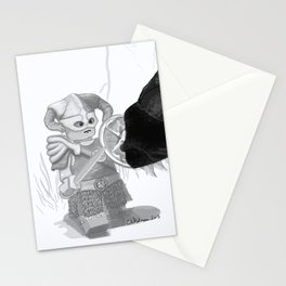 Dovahkiin Minifigure Greyscale Digital Art Stationery Cards