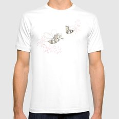 Horse Bees Mens Fitted Tee White MEDIUM