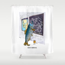 Keith Herring Shower Curtain
