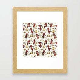 La Fontaine Grape Tea Framed Art Print