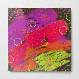 80s infused with pizzazz Metal Print