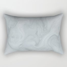 Elegant Blue Grey Marble Rectangular Pillow