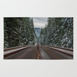 Winter Road Trip - Pacific Northwest Nature Photography Rug