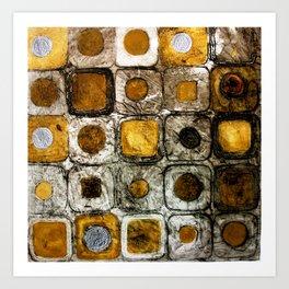 Golden Penny Squares Art Print