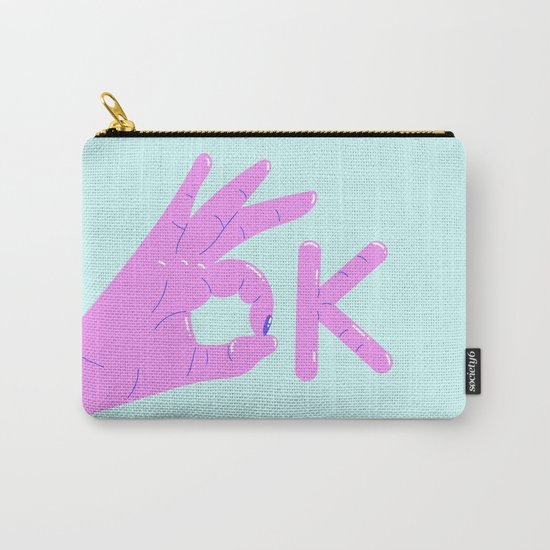 It's alright! – purple version Carry-All Pouch