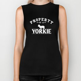 Yorkie Design Property of A Yorkie Biker Tank