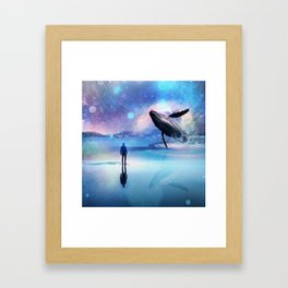 Walking with Whales Framed Art Print