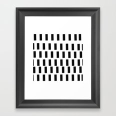 Graphic_Dashed Framed Art Print