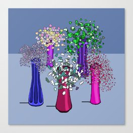 Cascade Flowers Canvas Print