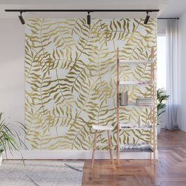 Gold Leaves 2 Wall Mural
