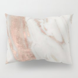 Marble Rose Gold Shimmery Marble Pillow Sham