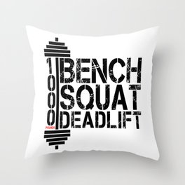 1000 Pounds Bench Squat Deadlift Powerlift Club Fitness Bodybuilder Bodybuilding Throw Pillow